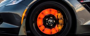 glowing corvette brakes