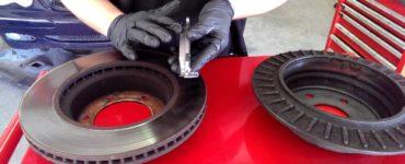 two brake rotors and a brake pad