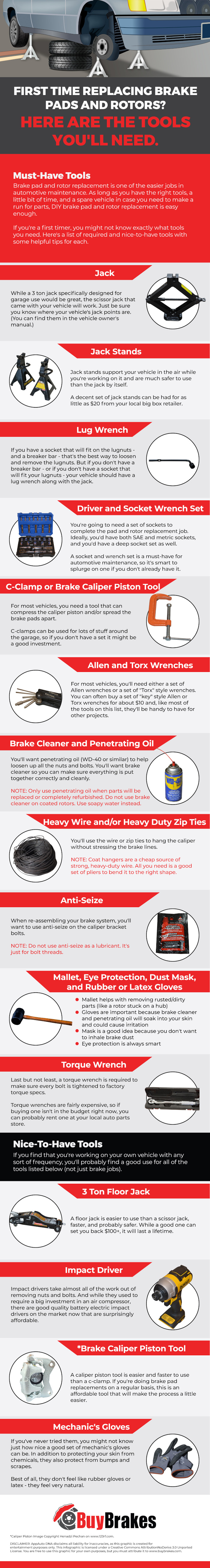 Brake change tools