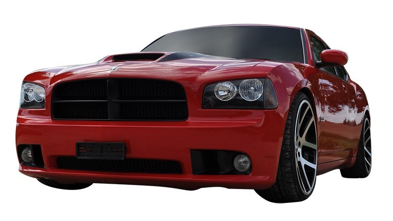 Red Dodge Charger front view