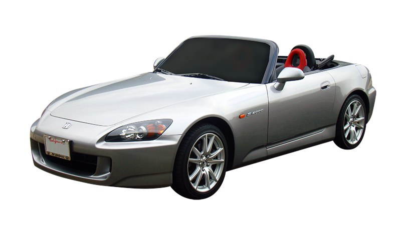 Silver S2000 convertible front view