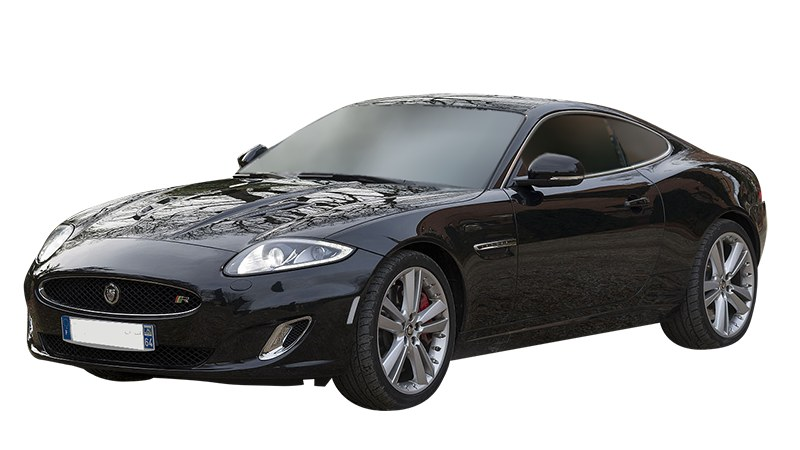 Black F-Type Jaguar front view