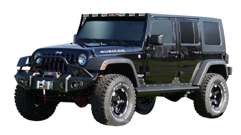 Black JKU Wrangler with all the trimmings