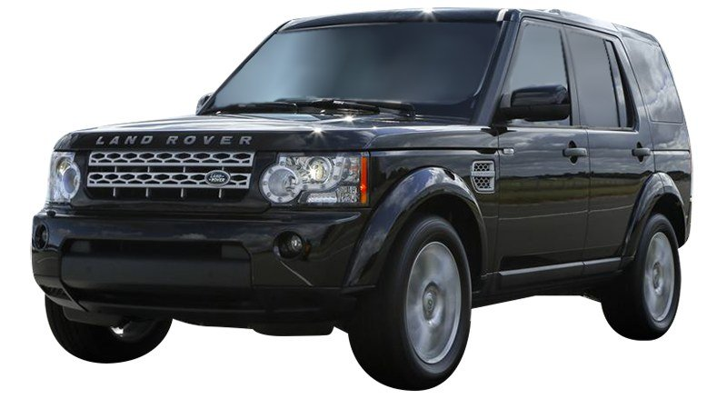 Black Land Rover Range Rover front view
