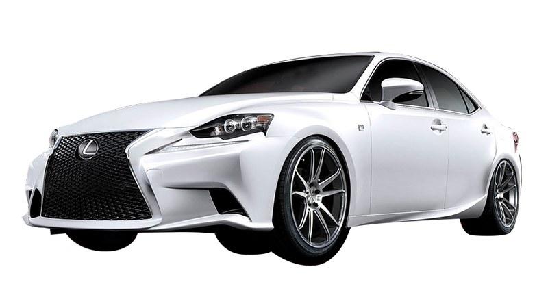 White Lexus ES front view