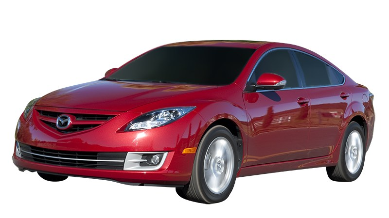 Red Mazda6 front view