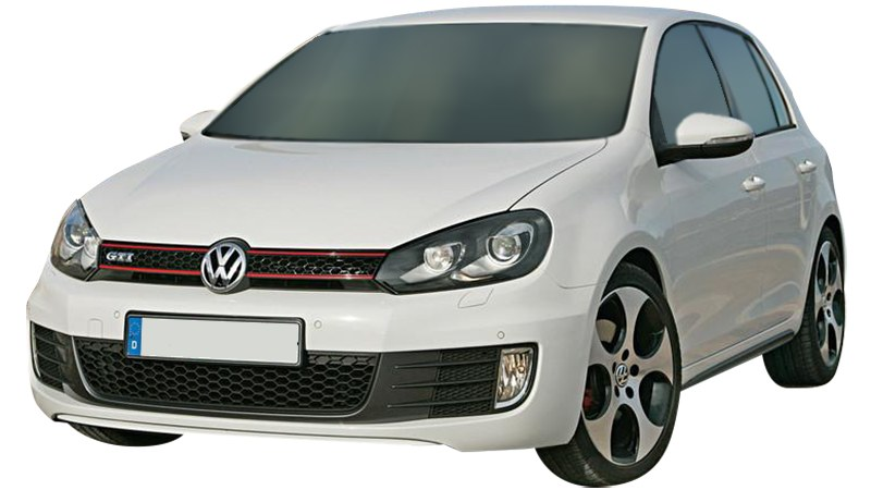 White GTI front view