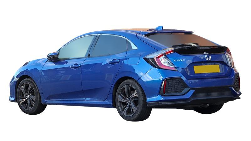 Blue Honda Civic Hatchback Sedan