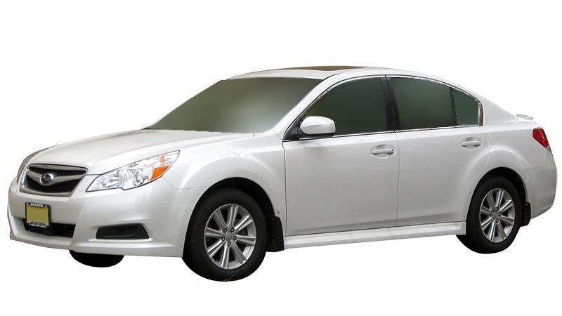 White Subaru Legacy sedan