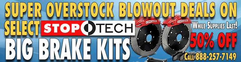 StopTech Overstock Big Brake Kit Sale