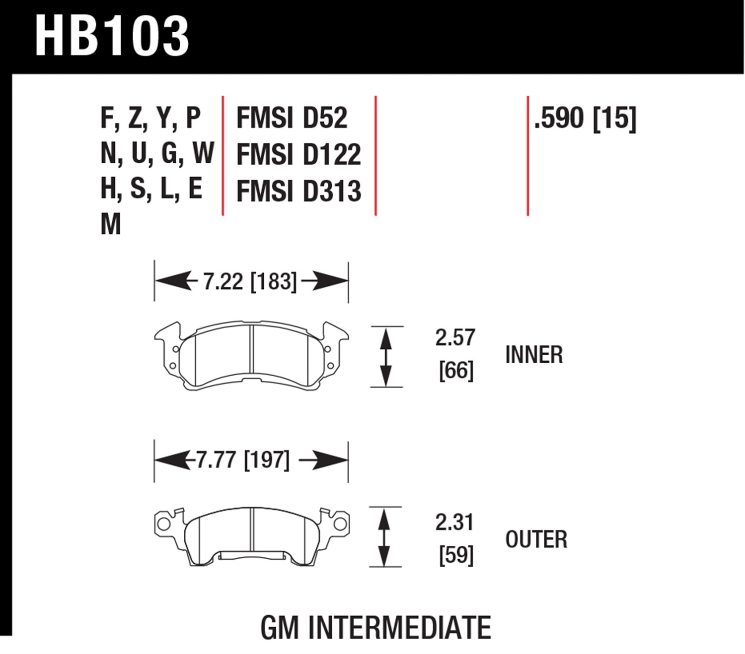 Hawk Performance LTS Light Truck & SUV Brake Pads