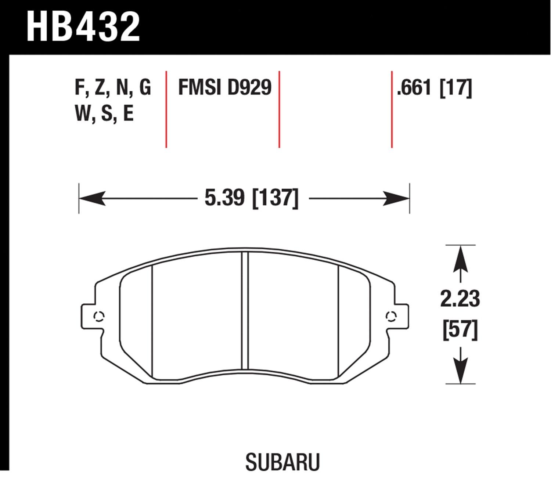 Hawk Performance HB193B.670 HPS 5.0 Disc Brake Pad