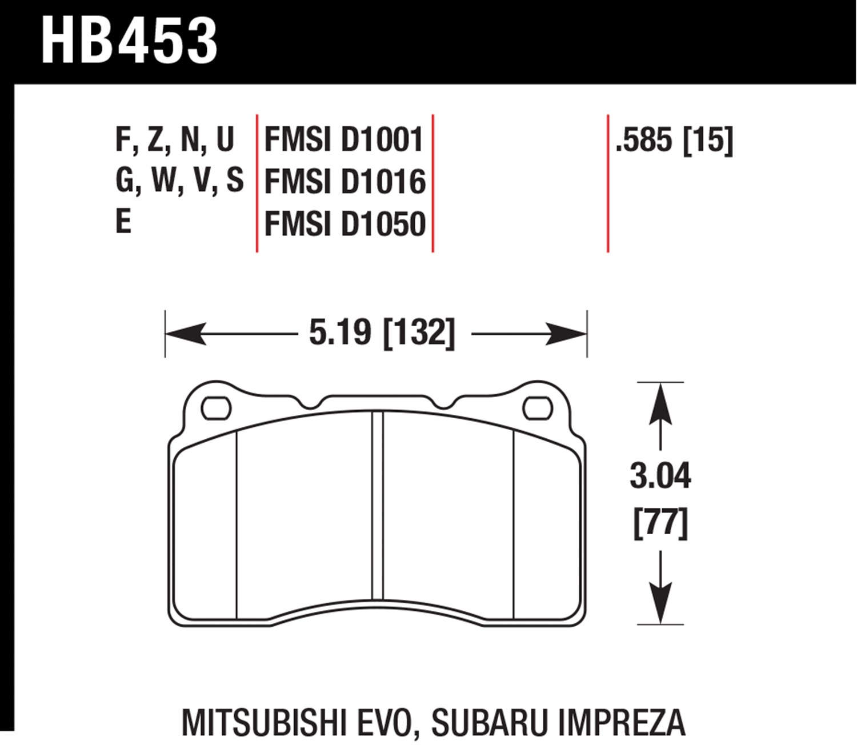 Hawk HPS Brake Pads Front Rear 2010-2014 Genesis Coupe w//o Brembo