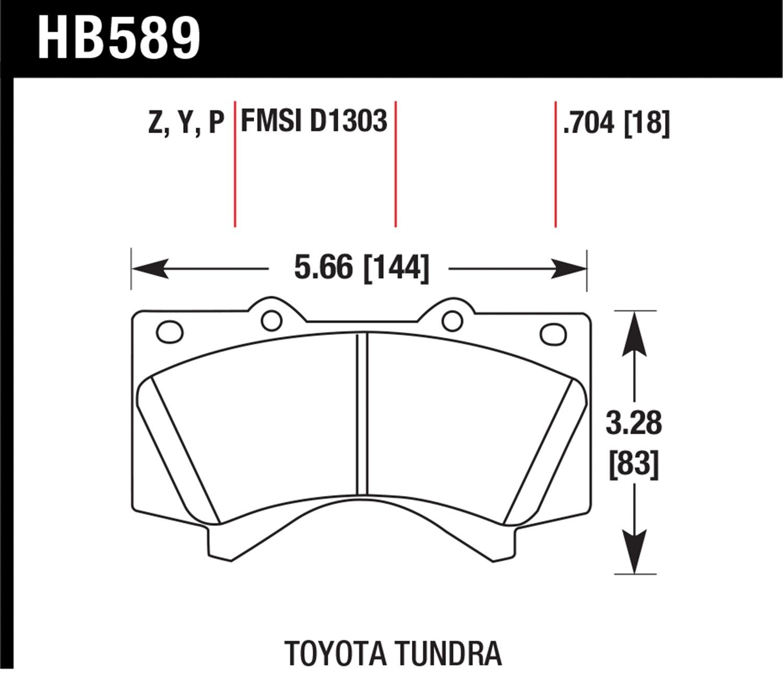 Front Brake Pad LX570 Land Cruiser Sequoia Tundra D1303