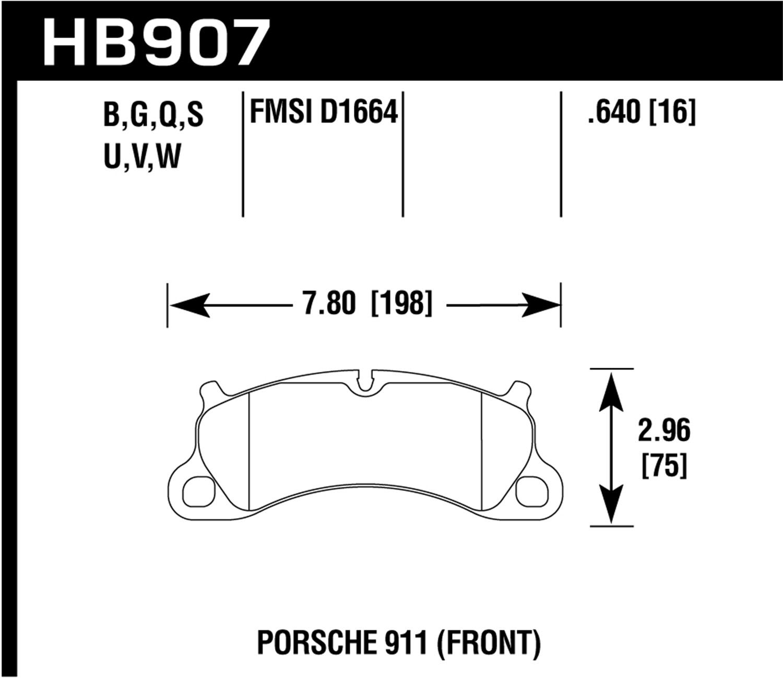 Hawk Performance HB907S.640 Motorsports Brake Pads
