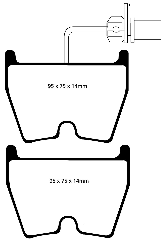 EBC BLUESTUFF NDX TRACK//RACE  BRAKE PADS FRONT DP51513