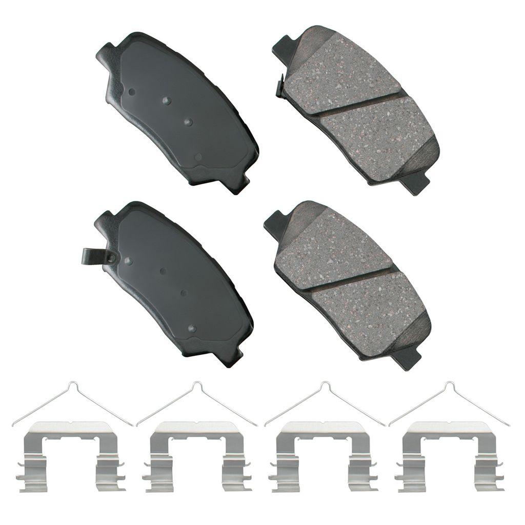 Akebono ACT815A Ultra-Premium Ceramic Front Disc Brake Pads grey