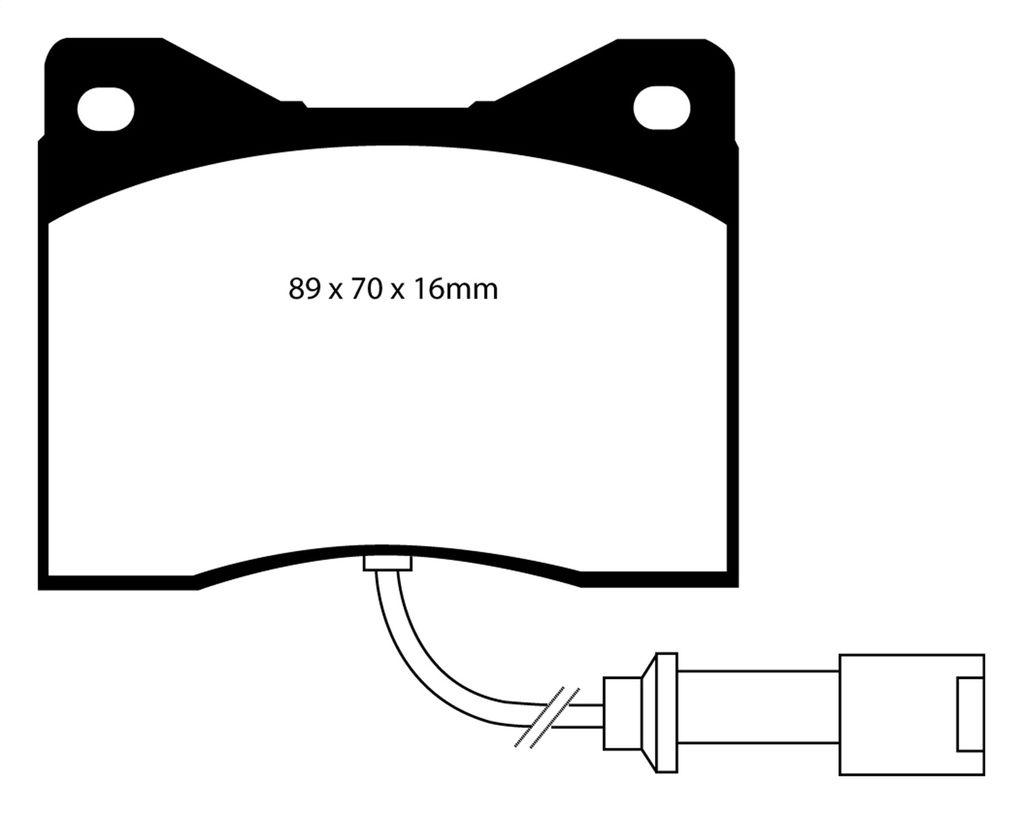 EBC Brakes DP3753C Redstuff Ceramic Low Dust Brake Pad