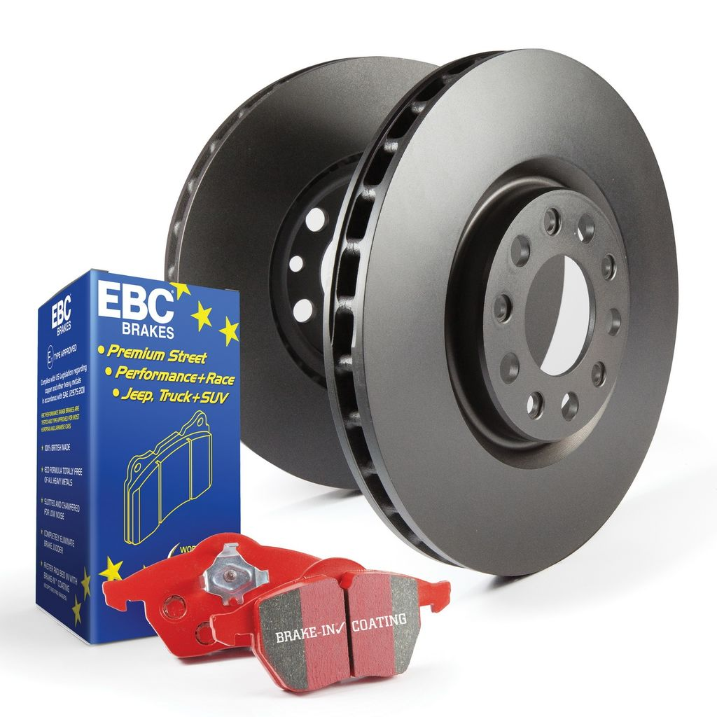 EBC Stage 12 Smooth Rotors and Red Ceramic Brake Kit