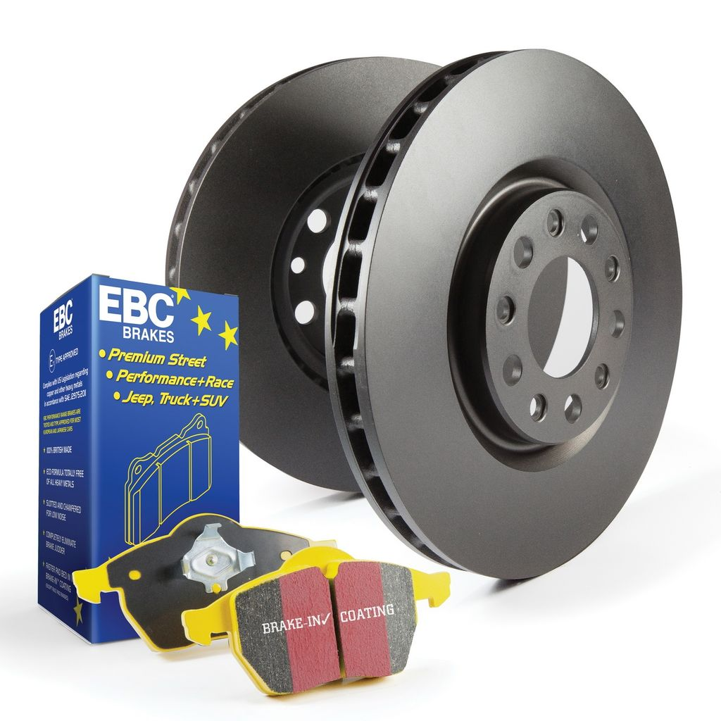 EBC Brakes S13KR1407 - S13 Yellowstuff Brake Pads and RK Smooth Brake Rotors Kit, 2 Wheel Set