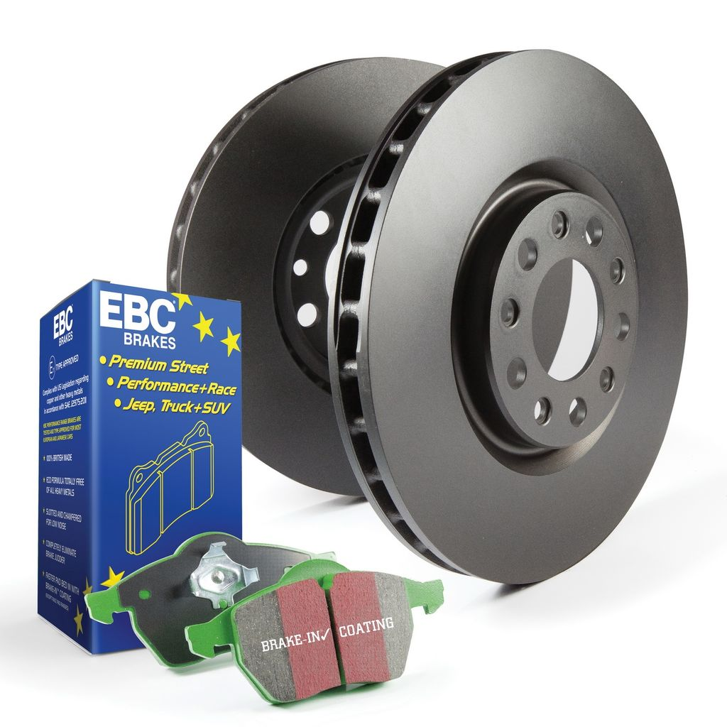 EBC Brakes S14KF1265 - S14 Greenstuff Brake Pads and RK Smooth Brake Rotors Kit, 2 Wheel Set
