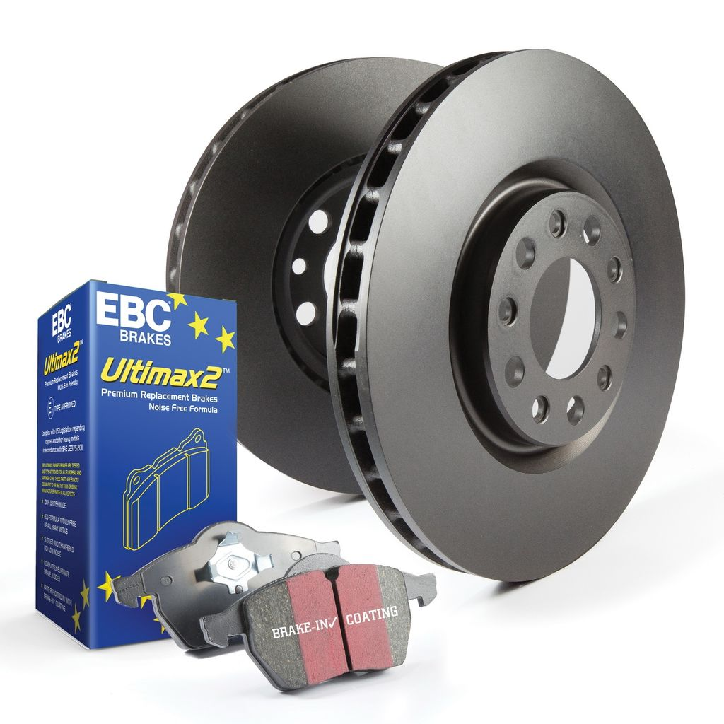 EBC Brakes S1KF1257 - S1 Ultimax Brake Pads and RK Smooth Brake Rotors Kit, 2 Wheel Set