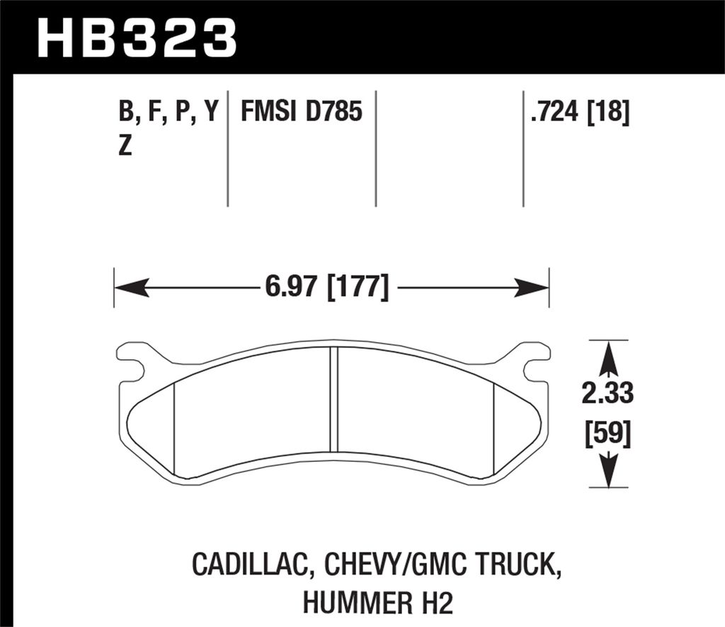 Hawk Performance HB323P.724 - Super Duty Truck Brake Pads, 2 Wheel Set