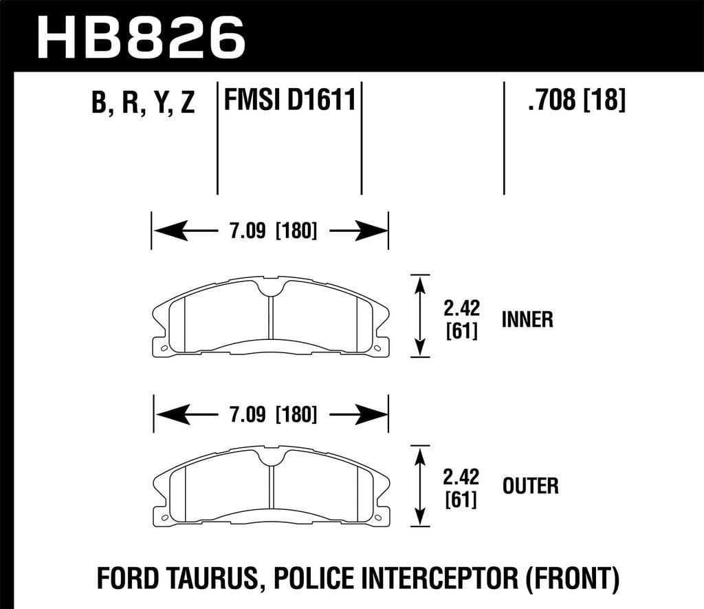 Hawk Performance HB268B.665 HPS 5.0 Disc Brake Pad