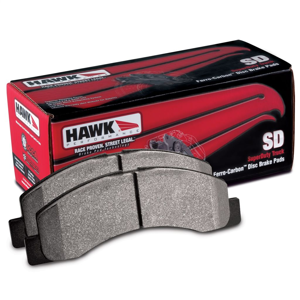 Hawk Performance HB902P.587 - Super Duty Truck Brake Pads, 2 Wheel Set