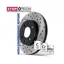 Front Stoptech 938.42061 Street Axle Pack Drilled /& Slotted