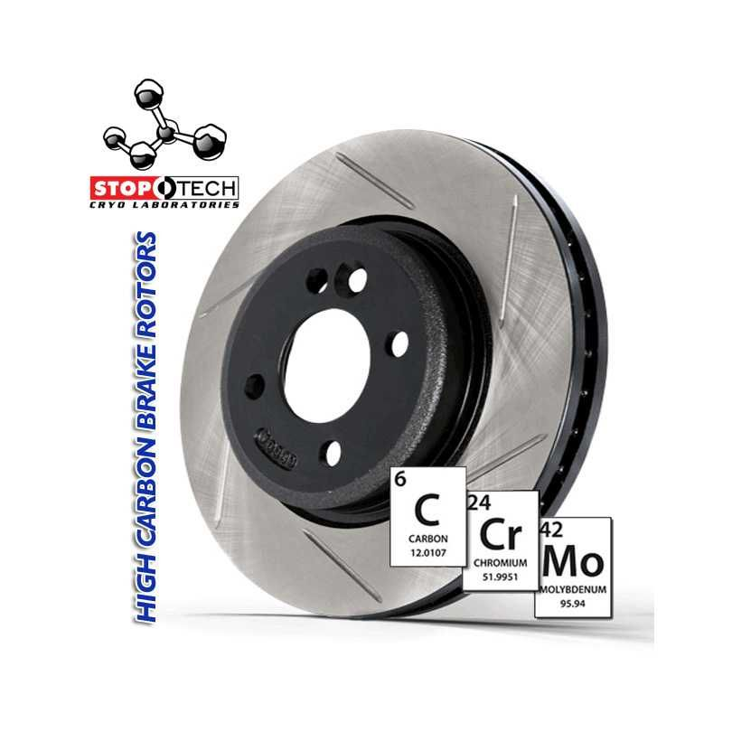 Right StopTech 126.35024CSR Cryo Sport Slotted Brake Rotor