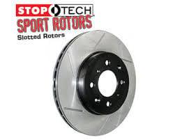 StopTech 126.42054SL Sport Slotted Brake Rotor; Rear Left