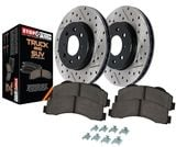 StopTech Brake Kit - Drilled and Slotted - Stage 2 Truck n Tow Rotor & Pad Kit