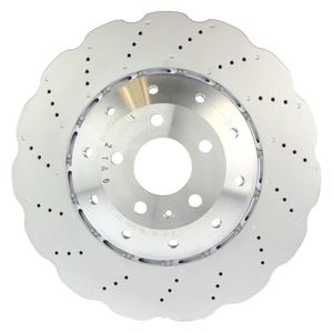 REAR POWER PERFORMANCE DRILLED SLOTTED PLATED BRAKE DISC ROTORS P31075