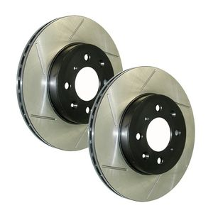 Slotted brake rotors, Stoptech
