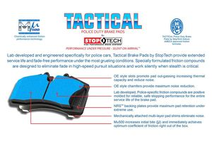 StopTech Police Duty Brake Pads -Ameca-Approved-Friction-Certification